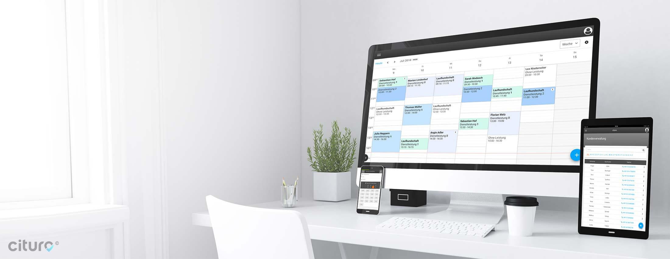 Der Online-Kalender für Sie und Ihre Kunden