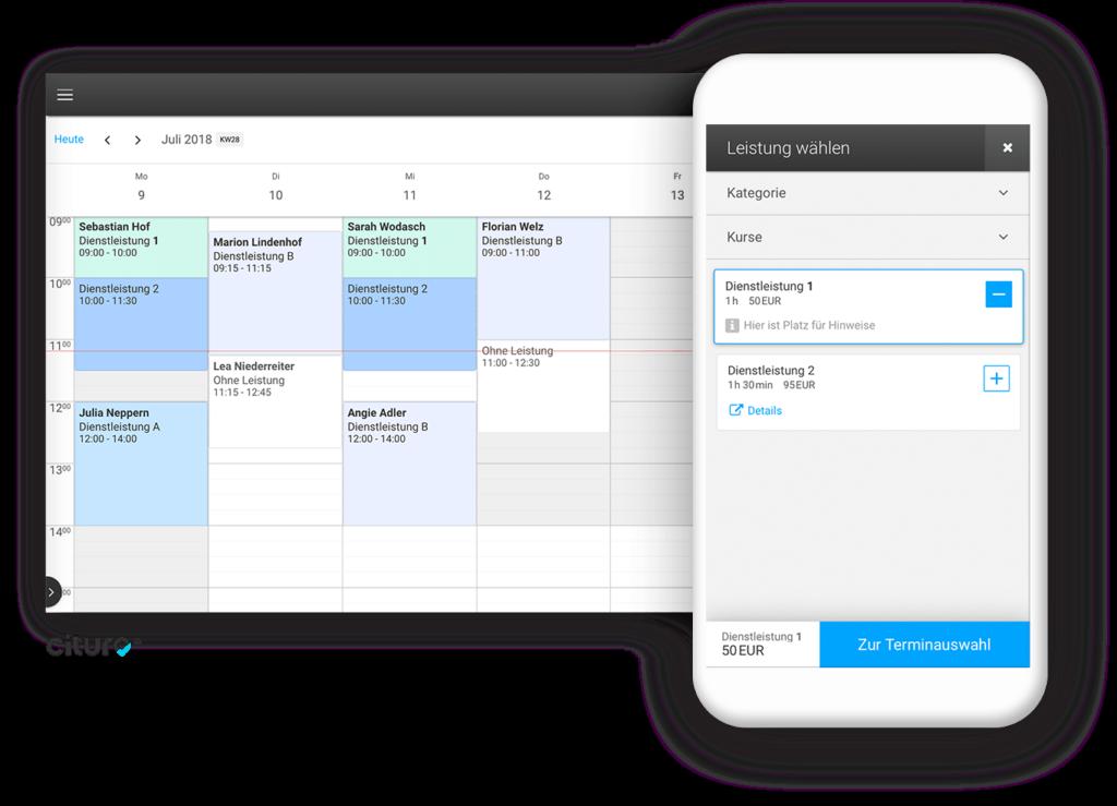 ETRON onRetail Online Kalender Schnittstelle zu cituro