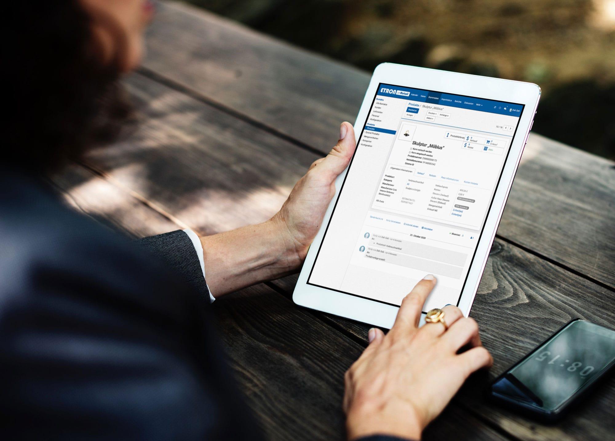 ETRON onRetail Registrierkasse, Warenwirtschaft, CRM, Webshop und mehr – das sind die Kernfunktionen von onRetail!